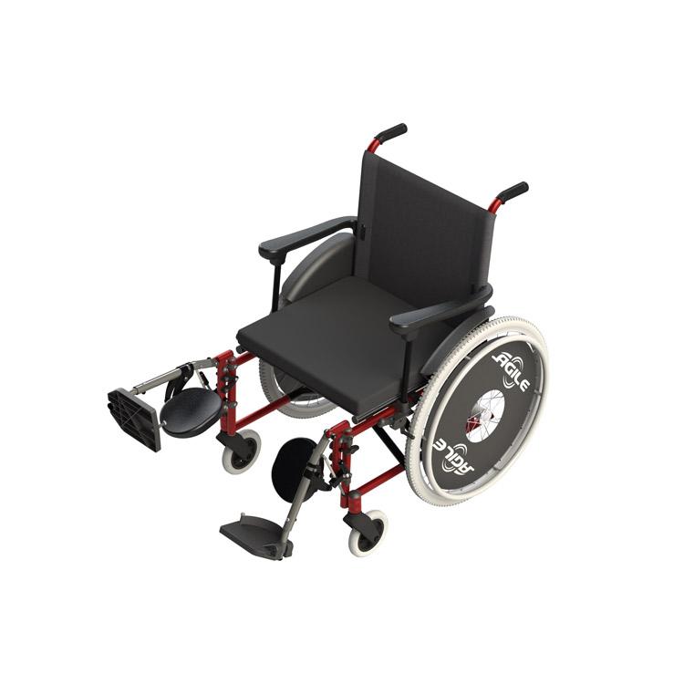 c1e73aaca Cadeira de rodas Ágile com elevação das pernas- Ortopedia Jaguaribe - Gino  Material Médico Hospitalar