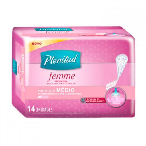 Plenitud Femme protetor Médio Absorvente Feminino Médio