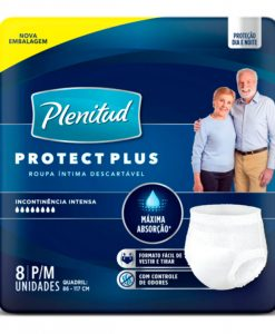 Roupa Intima Plenitud Protect Plus com 8 Unidades P e M