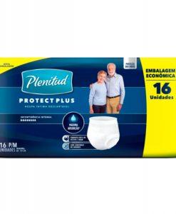 Roupa Intima Plenitud Protect Plus com 16 Unidades P e M
