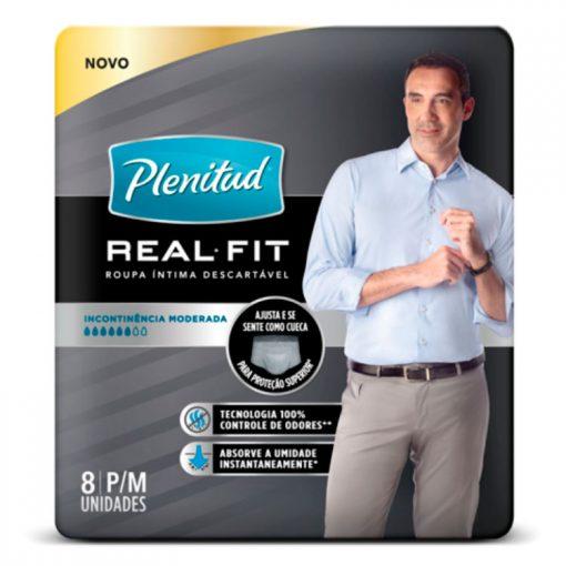 Roupa Intima Plenitud Real Fit Homem com 8 unidades P e M