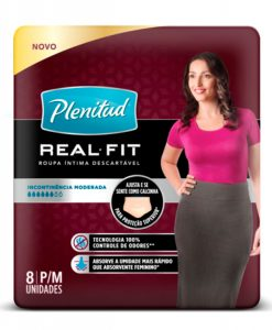 Roupa Intima Plenitud Real Fit mulher com 8 unidades P e M
