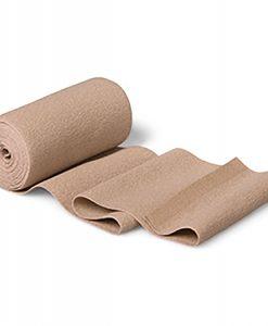 Putter Flex - Hartmann é Bandagem bi-elástica, fina, bege, de curta tração, com elasticidade têxtil, proporciona uma pressão funcional elevada com pressão reduzida em descanso; exerce compressão mesmo após uso prolongado, pode ser lavada a 95ºC e esterilizada (vapor 134ºC).