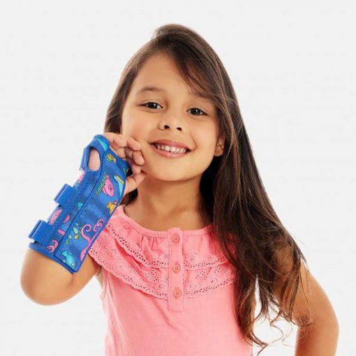 Tala para Punho com Dedos Livres Bilateral Chantal Kids