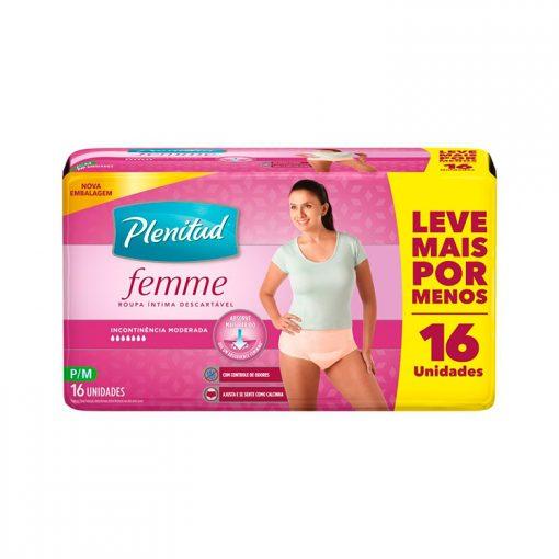 Plenitud Femme Roupa íntima descartávelcom 16 unidades