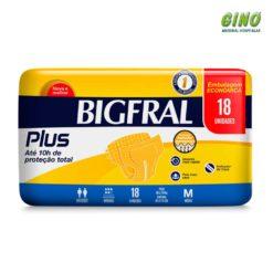 Fralda Bigfral Plus M Econômica 18 unidades