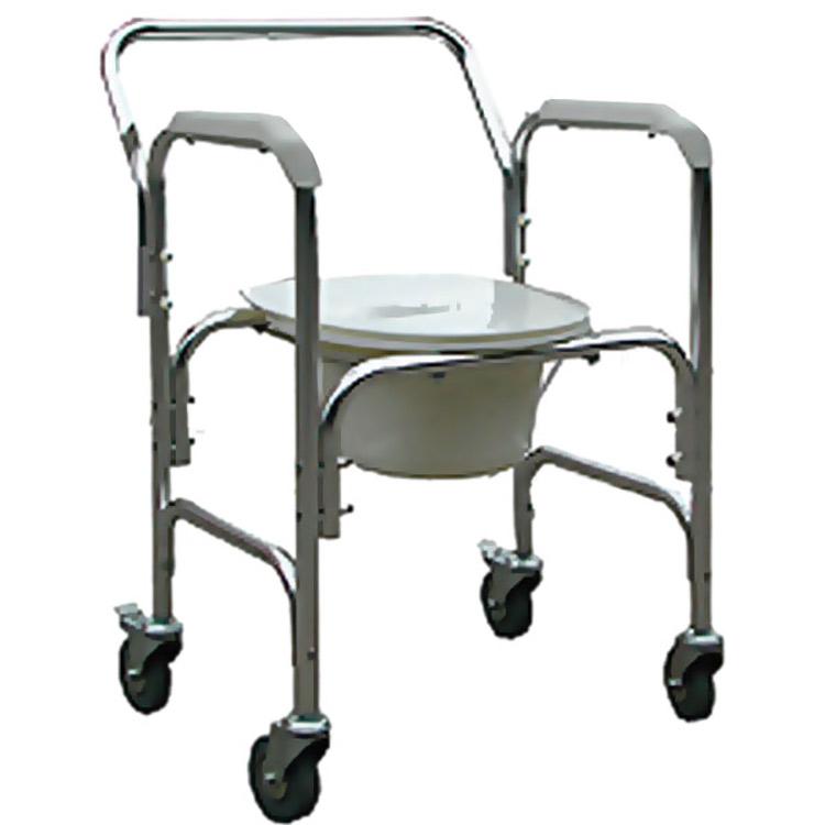 14f005277 Cadeira de Rodas para higienização - ACM202W PRAXIS - Gino Material Médico  Hospitalar