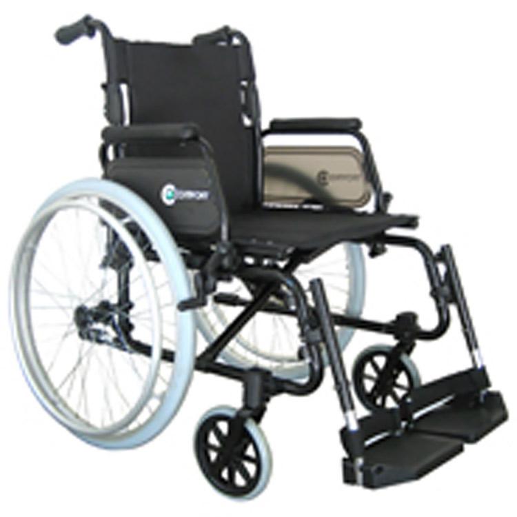Cadeira de rodas alumínio 7100 pés fixos Comfort