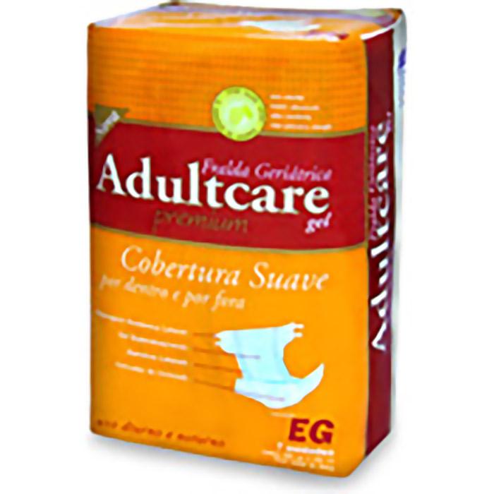 Fralda Geriátrica Adultcare Premium EG - Tamanho do produto: Cintura 120 a 160 cm e Peso acima 80 Kg Quantidade na embalagem: 7 unidades